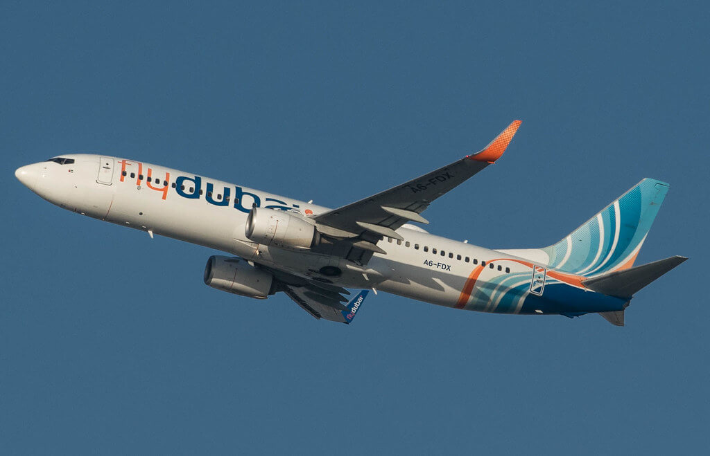 FlyDubai A6 FDX Boeing 737 800 at Dubai International Airport
