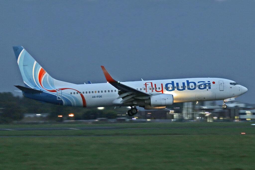 FlyDubai A6 FEC Boeing 737 800 at Shannon