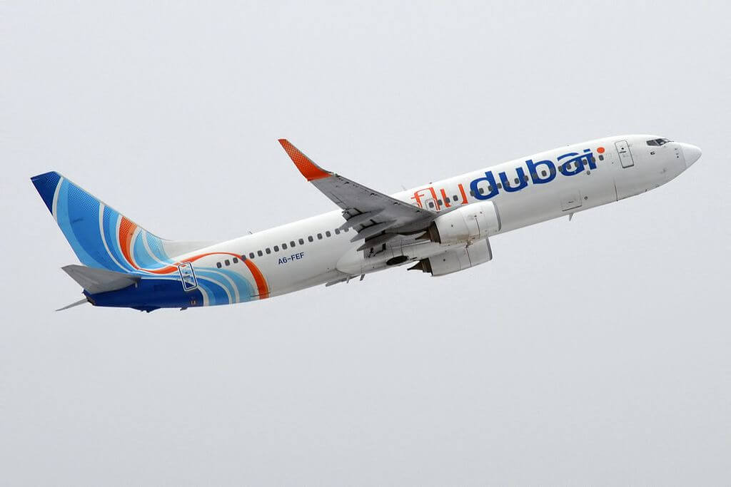 FlyDubai A6 FEF Boeing 737 8KN at Vnukovo International Airport