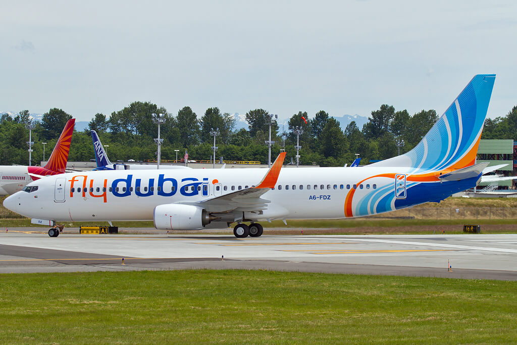 Flydubai A6 FDZ Boeing 737 800 at PAE