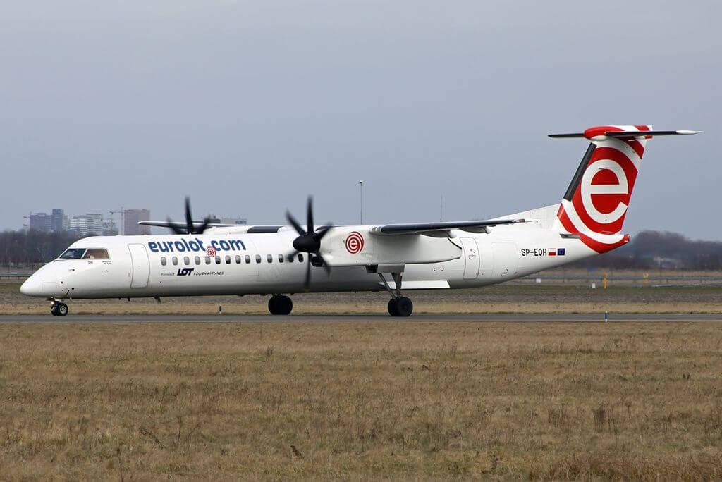 LOT Polish Airlines EuroLOT SP EQH De Havilland Canada DHC 8 402Q Dash 8