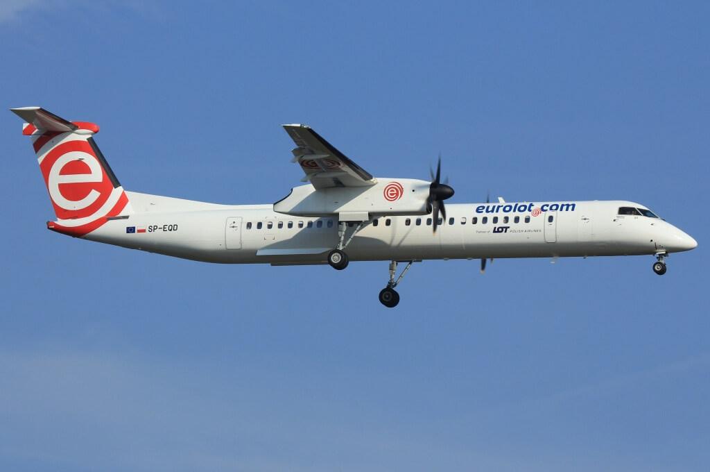 LOT Polish Airlines SP EQD Eurolot De Havilland Canada DHC 8 402Q Dash 8 at Frankfurt Airport