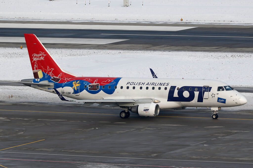 LOT Polish Airlines SP LDF Embraer ERJ 170 at Zurich Airport
