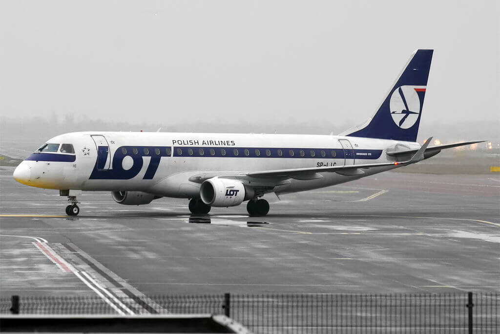 SP LIC Embraer 175 of LOT Polish Airlines at Tallinn Airport