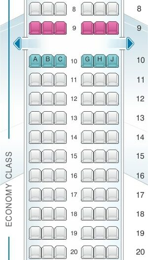 Seat Map and Seating Chart Airbus A319 100 Royal Jordanian