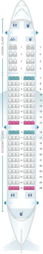 Seat Map and Seating Chart Airbus A320 200 Royal Jordanian