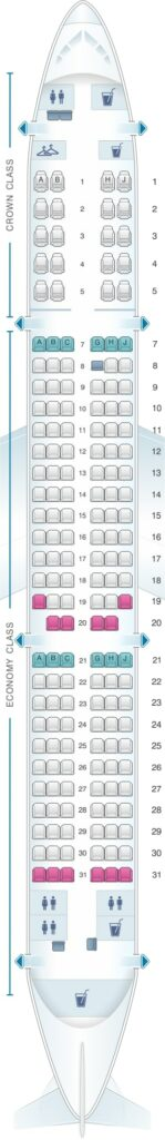 Seat Map and Seating Chart Airbus A321 200 Royal Jordanian