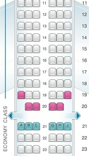 Seat Map and Seating Chart Airbus A321 200 Royal Jordanian
