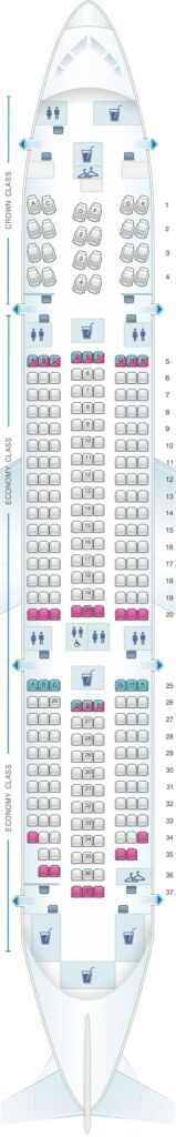 Seat Map and Seating Chart Boeing 787 8 Dreamliner Royal Jordanian