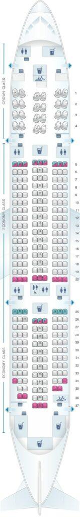 Seat Map and Seating Chart Boeing 787 8 Dreamliner Royal Jordanian