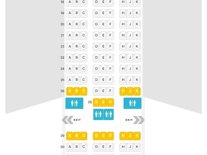 Seat Map and Seating Chart Boeing 787 9 Dreamliner Royal Air Maroc