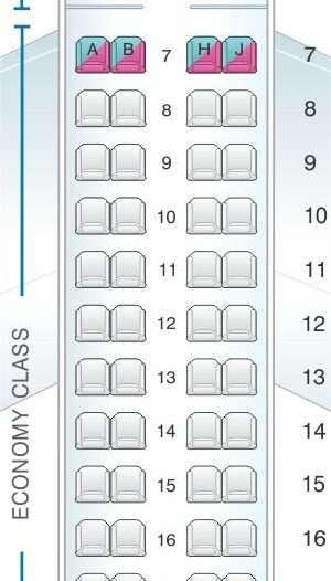 Seat Map and Seating Chart Embraer ERJ 175 Royal Jordanian