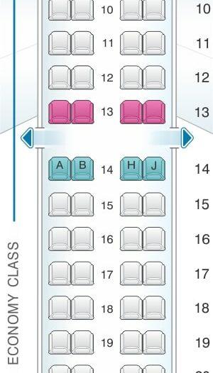 Seat Map and Seating Chart Embraer ERJ 195 Royal Jordanian