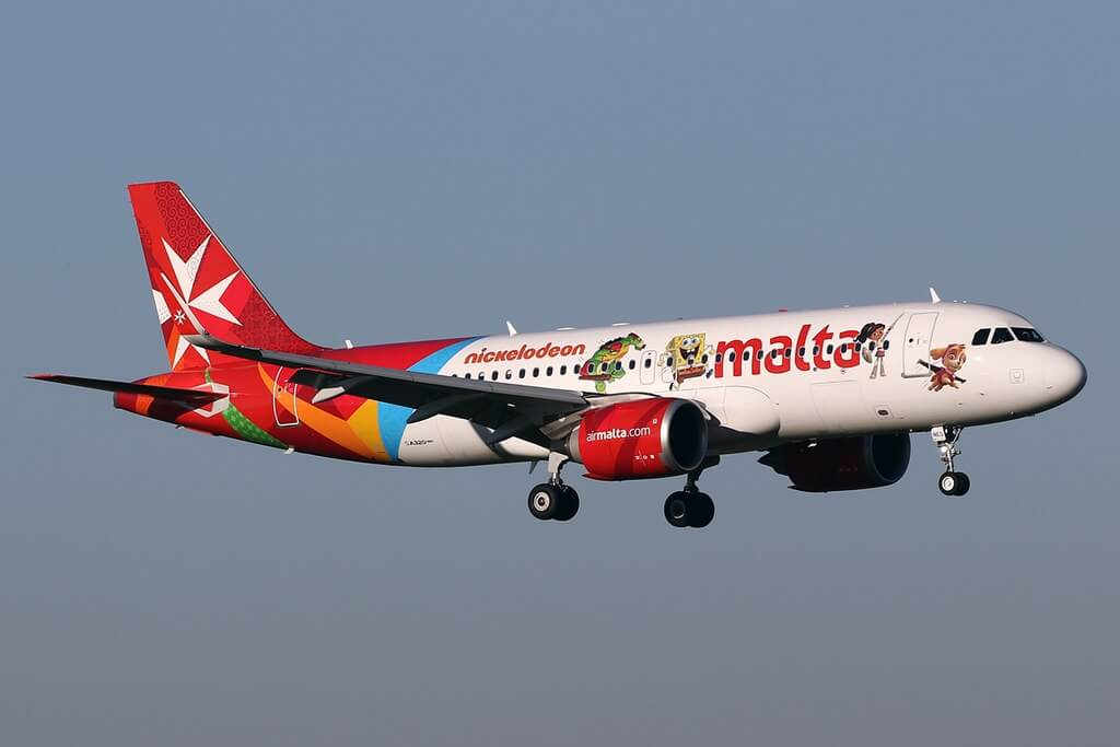 9H NEO Airbus A320neo of Air Malta at Amsterdam Airport Schiphol
