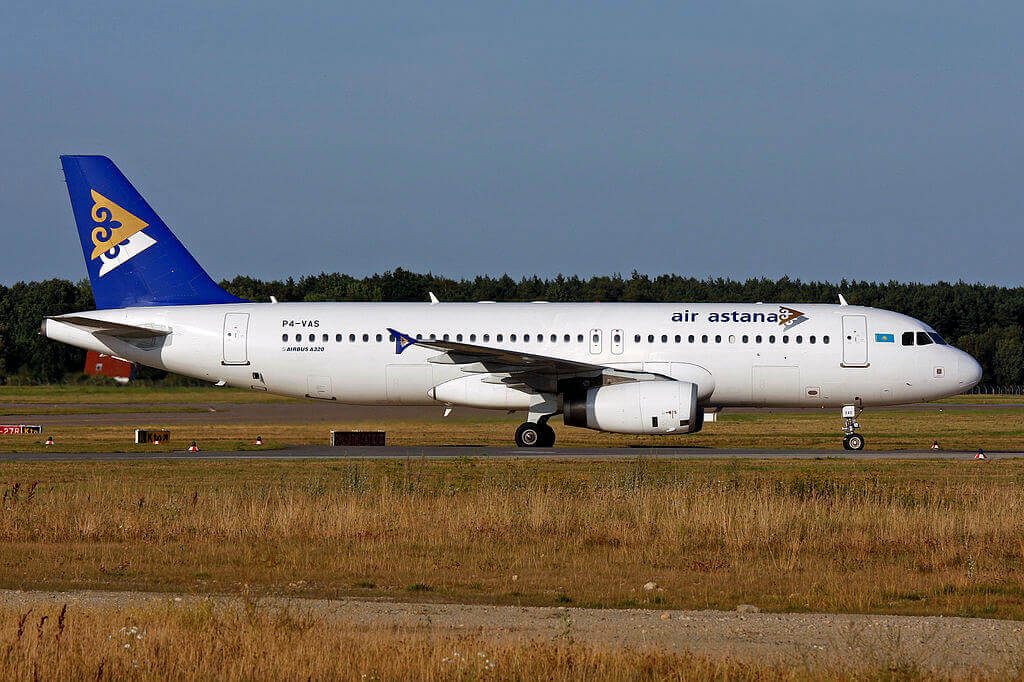Air Astana Airbus A320 200 P4 VAS at Hannover Airport