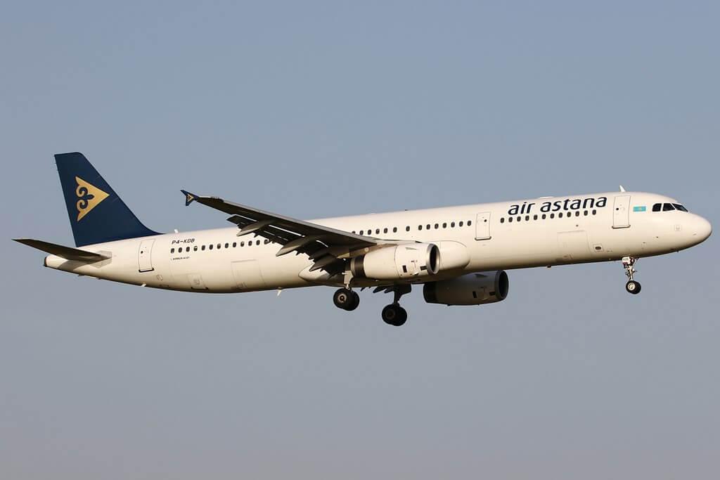 Air Astana Airbus A321 200 P4 KDB Aliya