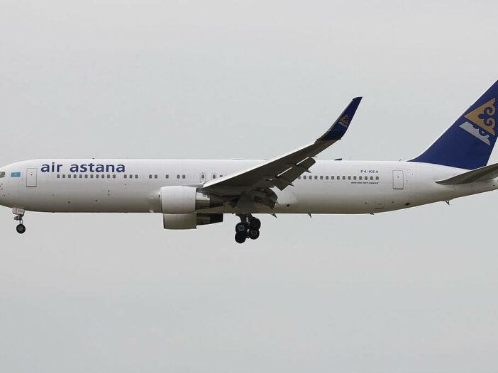 Air Astana Boeing 767 300ER P4 KEA at Frankfurt Airport