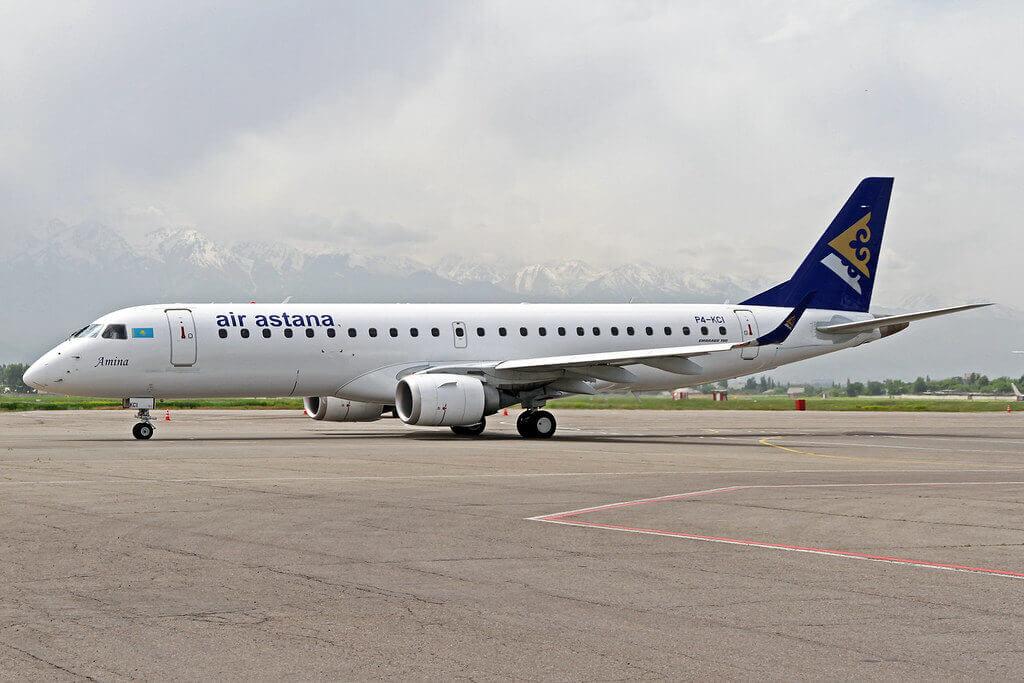 Air Astana Embraer ERJ 190 100LR P4 KCI Amina