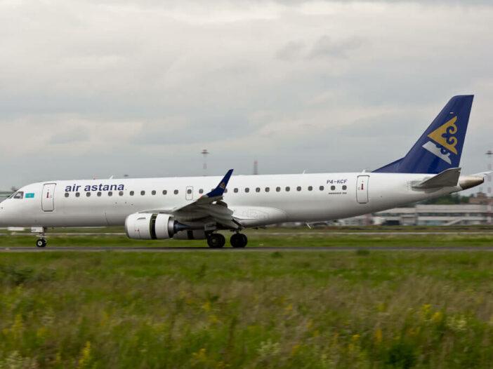 Air Astana Embraer ERJ 190 P4 KCF at Koltsovo
