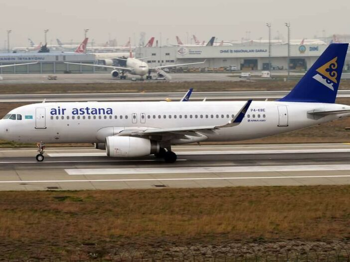 Air Astana P4 KBE Airbus A320 232 at Istanbul Atatürk Airport