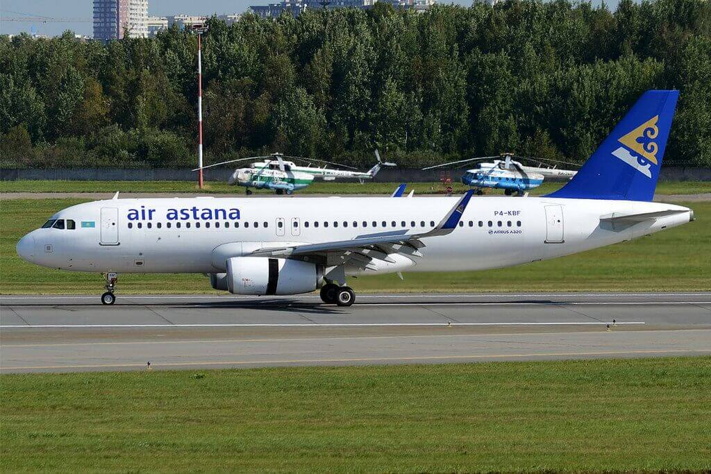 Air Astana P4 KBF Airbus A320 232 at Pulkovo Airport
