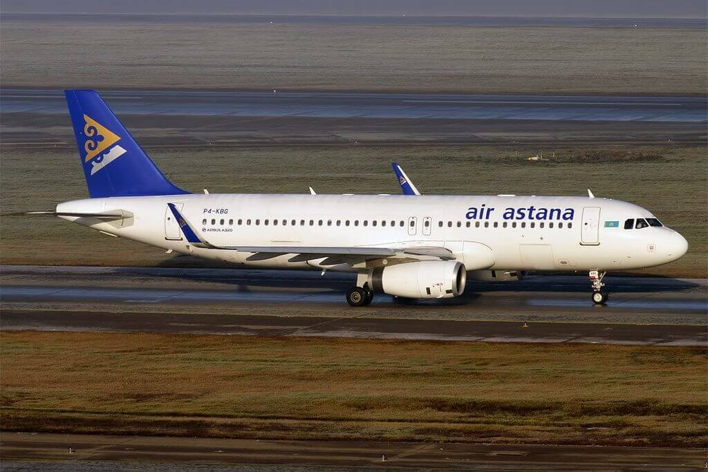 Air Astana P4 KBG Airbus A320 232 at Sheremetyevo International Airport