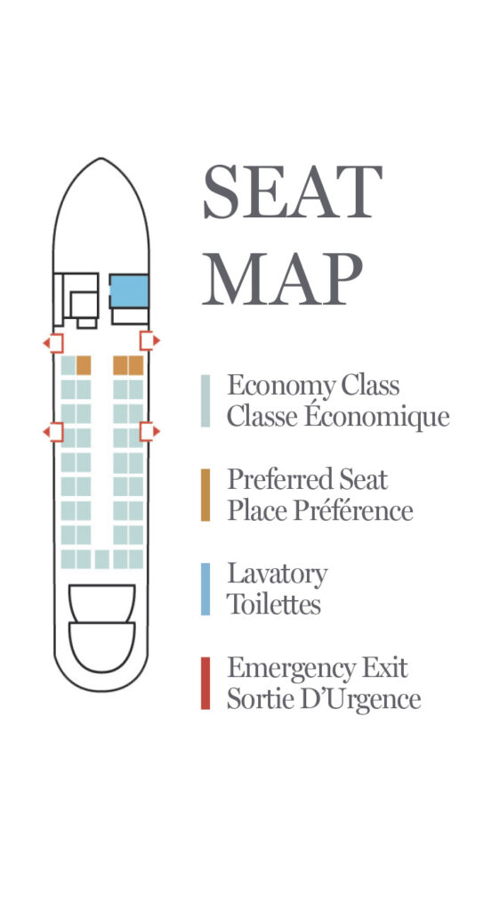 Air Canada Express Jazz Bombardier Dash 8 100 Seat Map and Seating Chart