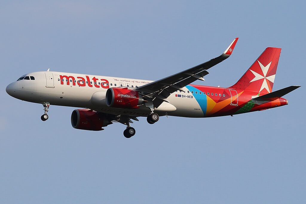 Air Malta 9H NEB Airbus A320neo at Frankfurt Airport
