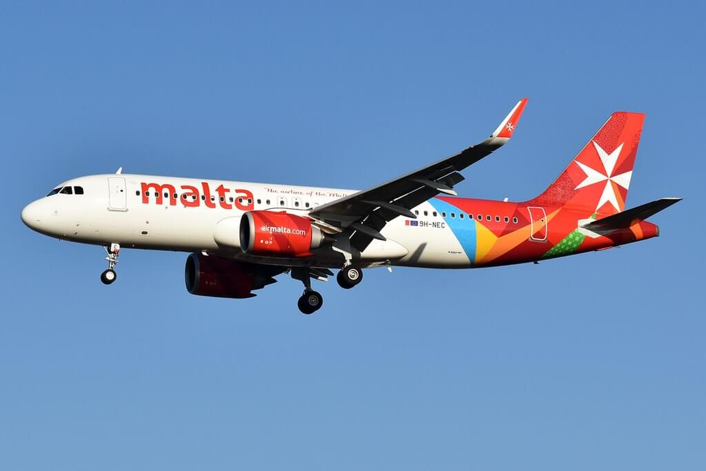 Air Malta 9H NEC Airbus A320 251Neo at London Gatwick Airport