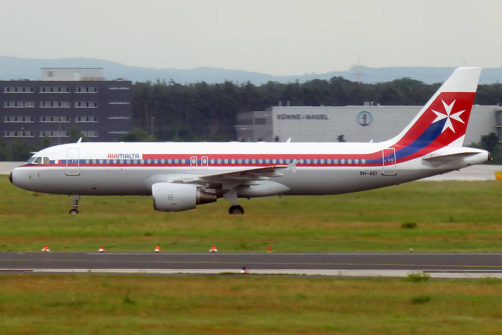 Air Malta Retro Livery 9H AEI Airbus A320 214 at Frankfurt Airport