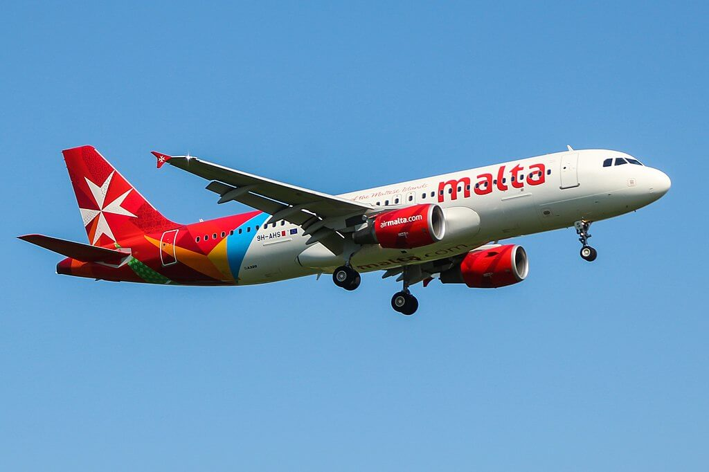 Airbus A320 200 Air Malta 9H AHS at London Heathrow Airport