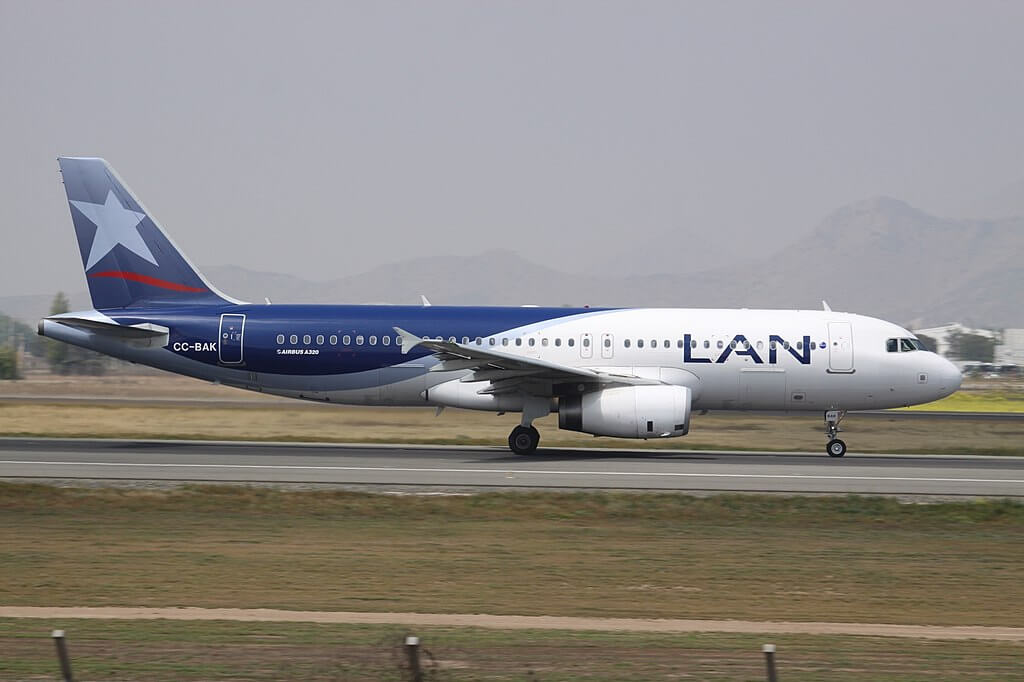 Airbus A320 200 LATAM LAN CC BAK at Comodoro Arturo Merino Benítez International Airport
