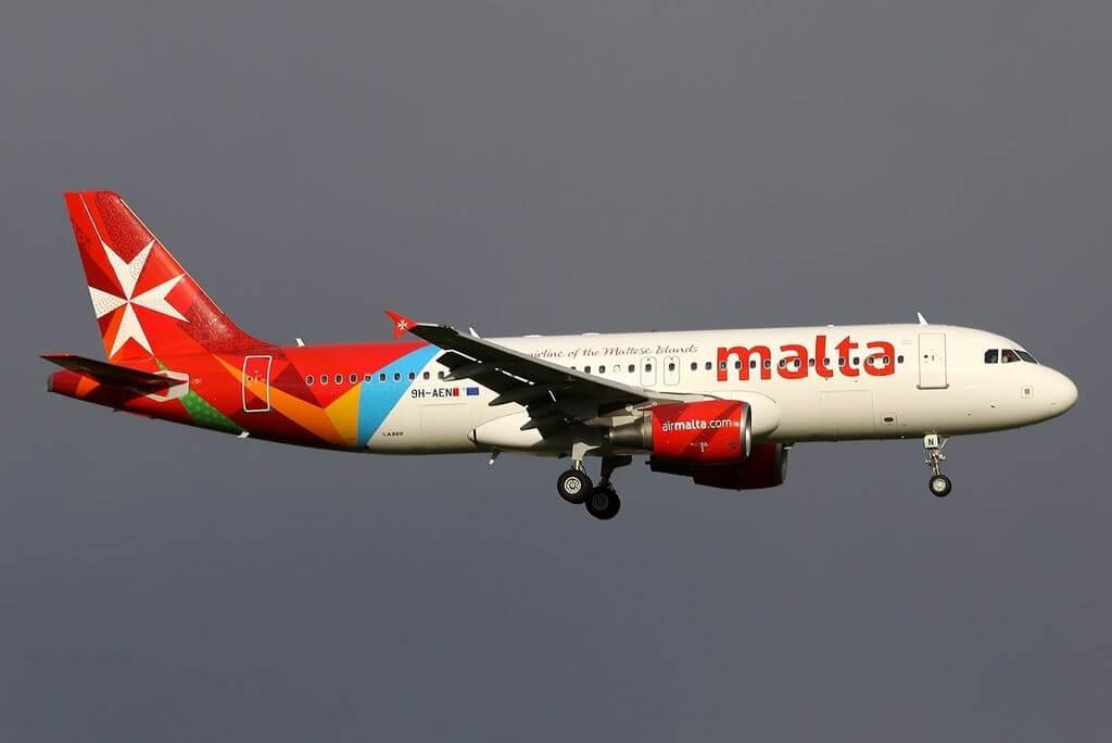 Airbus A320 214 Air Malta 9H AEN Bormla at Amsterdam Airport Schiphol