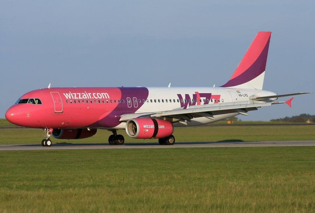 Airbus A320 232 Wizz Air HA LPQ at Prague Ruzyně Airport