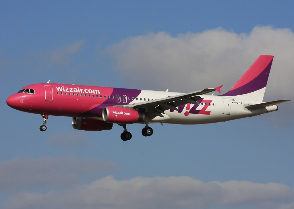 Airbus A320 233 Wizz Air HA LPJ at Prague Ruzyně Airport