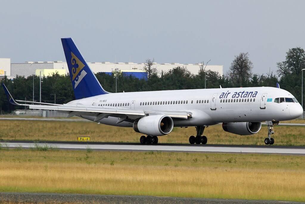 Boeing 757 28A Air Astana P4 MAS at Frankfurt Airport