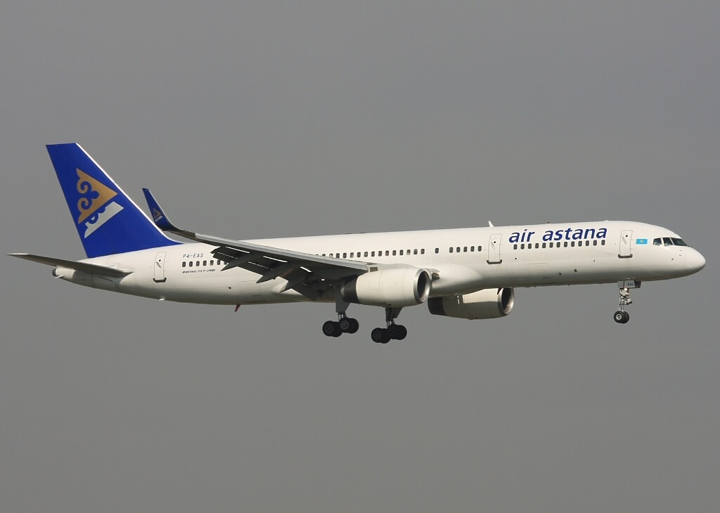 Boeing 757 2G5 Air Astana P4 EAS at Almaty International Airport