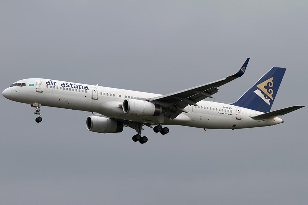 Boeing 757 2G5 Air Astana P4 FAS at Frankfurt Airport