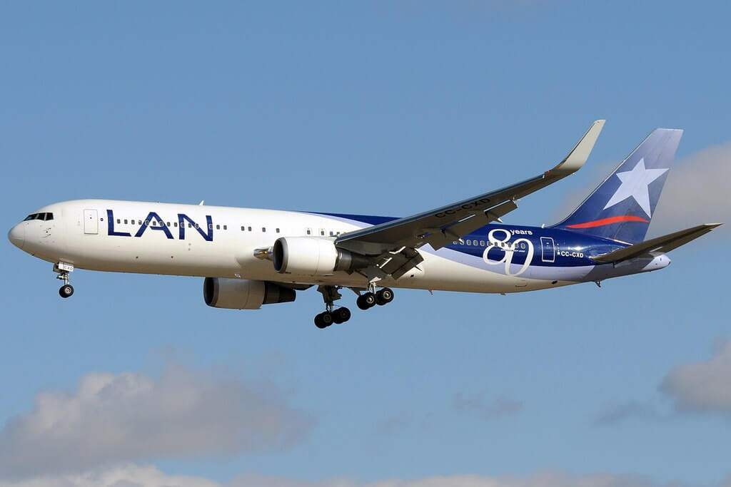 Boeing 767 316ER LAN Airlines LATAM CC CXD at Madrid Barajas Airport