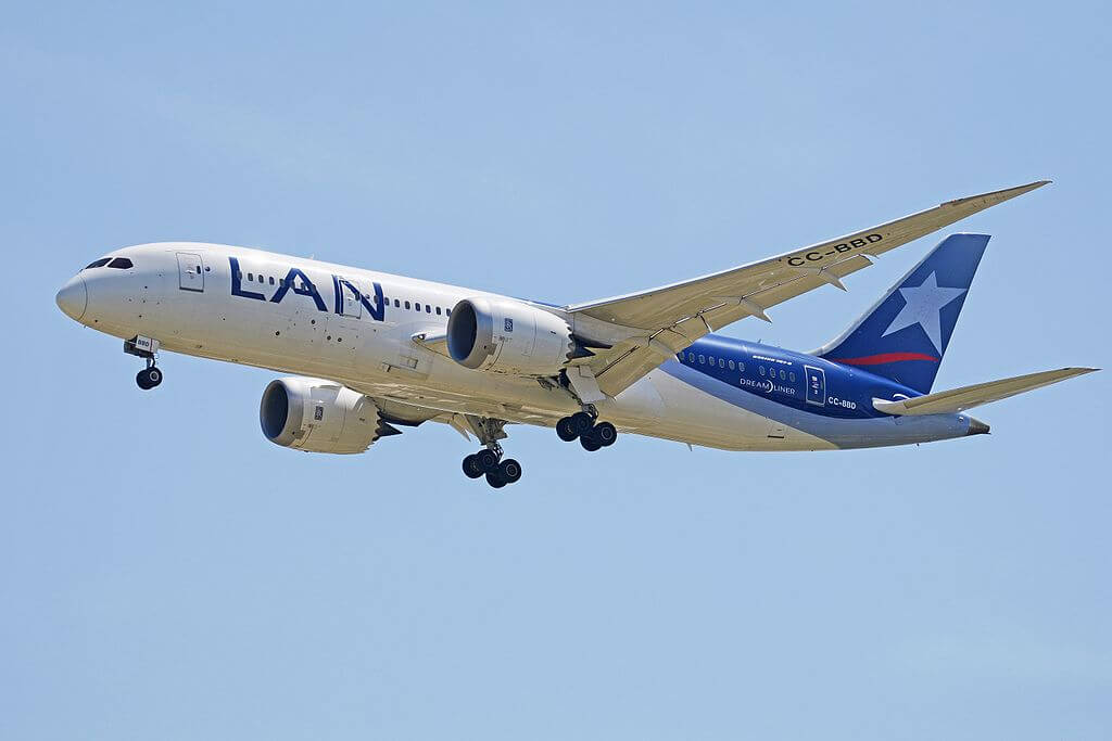 Boeing 787 8 Dreamliner CC BBD LAN Airlines LATAM at Madrid Barajas Airport