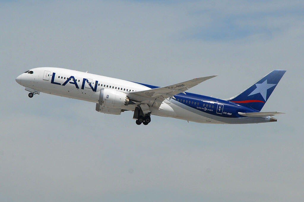 CC BBF Boeing 787 8 Dreamliner LAN Airlines LATAM at Los Angeles International Airport