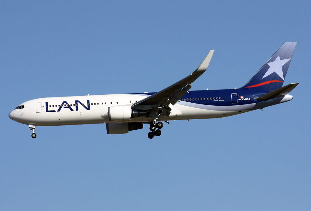 CC BDA LAN Airlines LATAM Boeing 767 316ER at MAD Madrid Barajas Airport