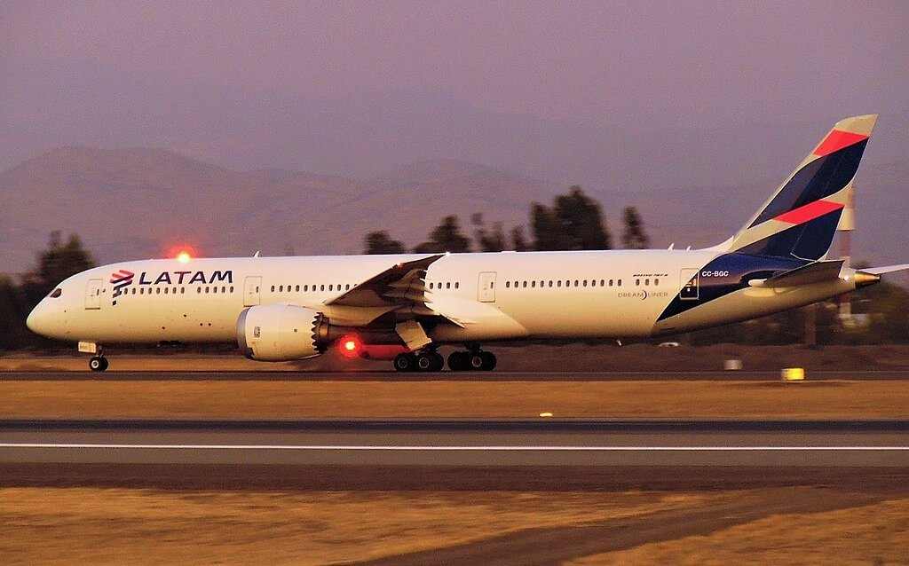 CC BGC LATAM Chile Boeing 787 9 Dreamliner at Santiago Airport