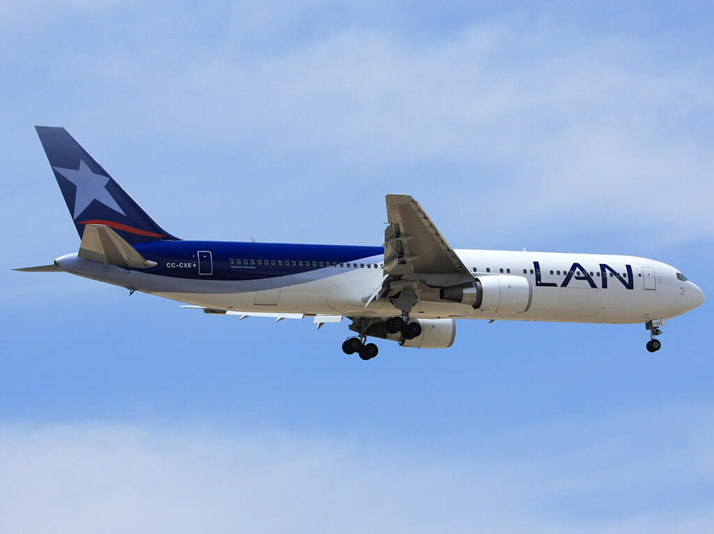 CC CXE Boeing 767 300ER LAN Airlines LATAM at Madrid Barajas Airport