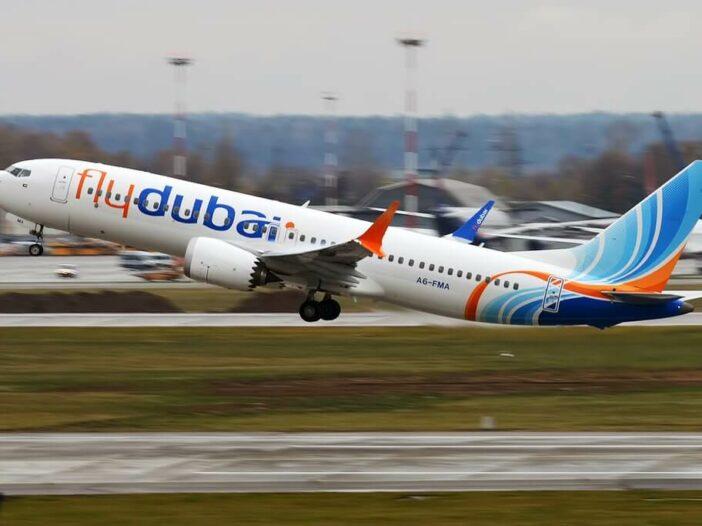 FlyDubai A6 FMA Boeing 737 MAX 8 at Sheremetyevo International Airport