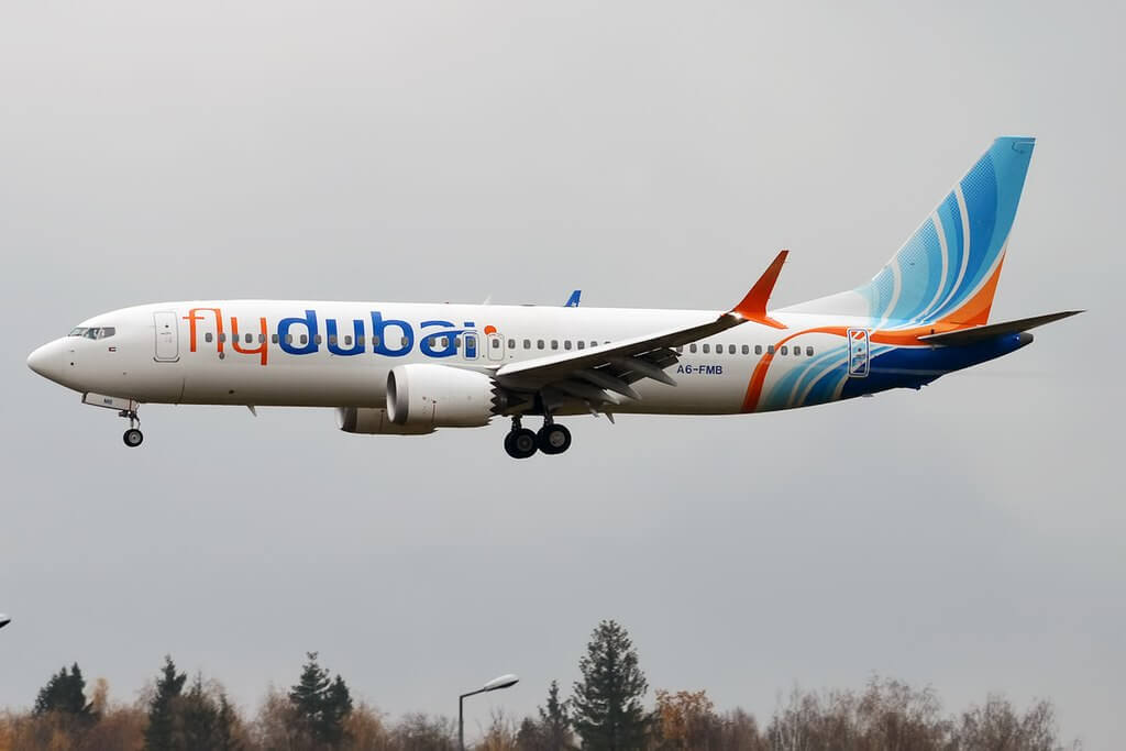 FlyDubai A6 FMB Boeing 737 MAX 8 at Vnukovo International Airport