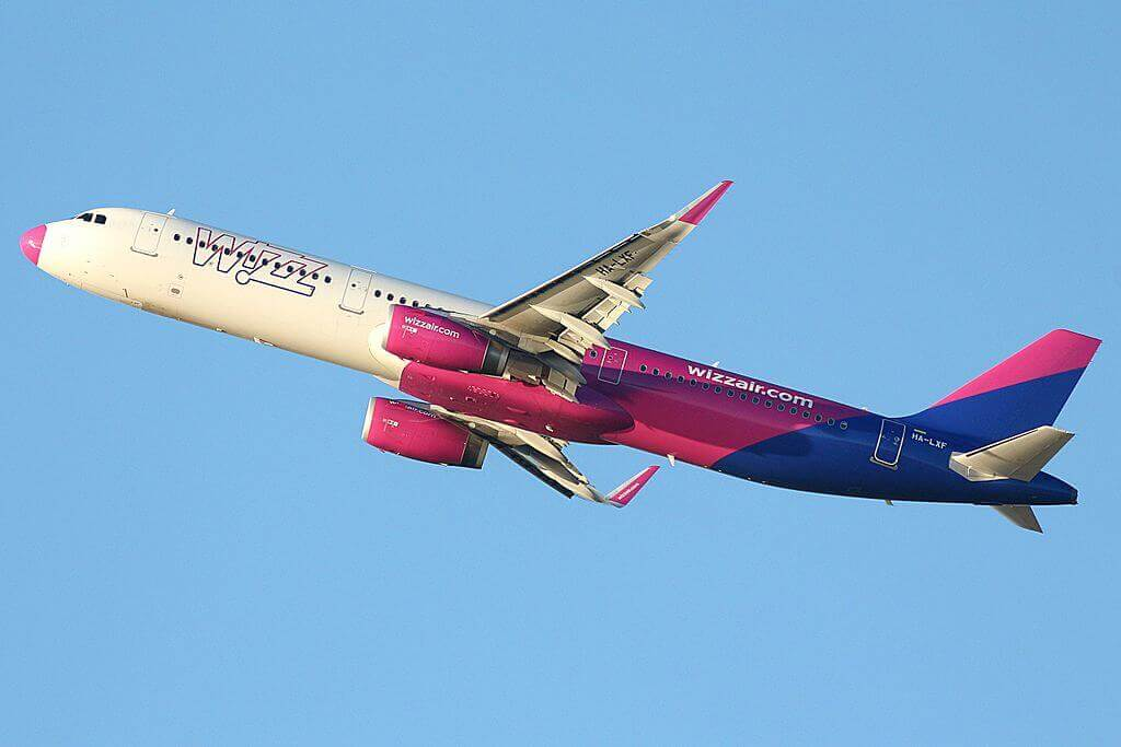 HA LXF Airbus A321 231 Wizz Air at Fiumicino Airport