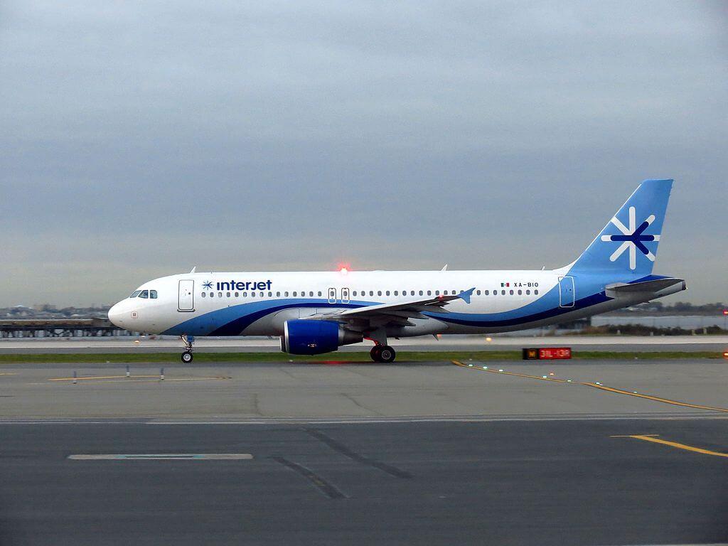 Interjet Airbus A320 200 XA BIO at John F. Kennedy International Airport