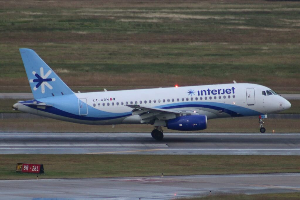 Interjet Sukhoi SSJ100 XA ABM at Houston Intercontinental