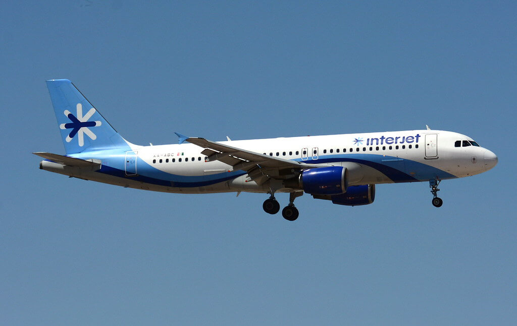 Interjet XA ABC Airbus A320 214 at Las Vegas McCarran